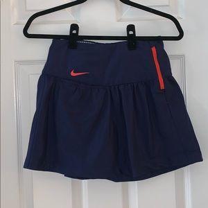 Navy & orange golf skirt
